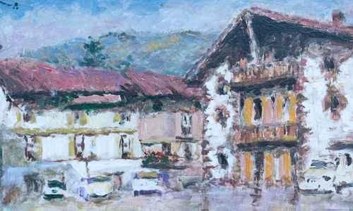 Zeanuri acoge una exposición del reconocido pintor vasco